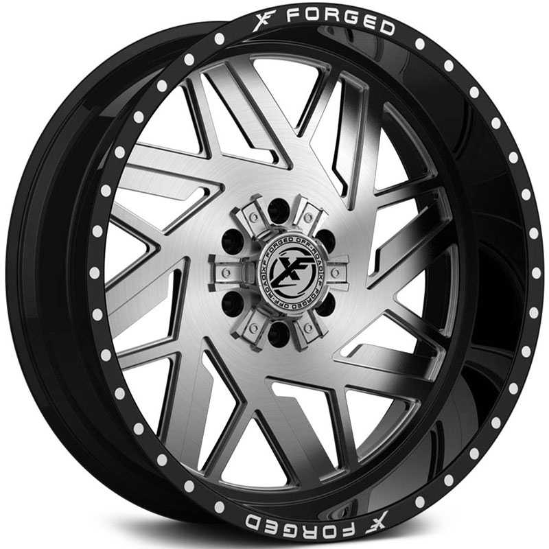 XF Offroad Forged XFX-306  Wheels Gloss Black w/ Brushed Face