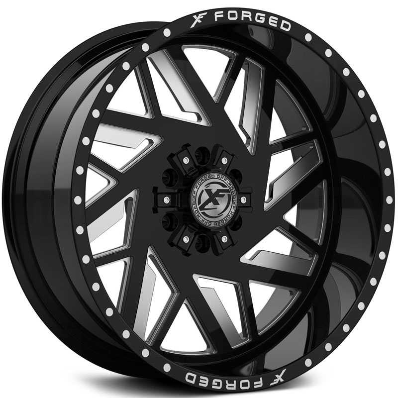 XF Offroad Forged XFX-306  Wheels Gloss Black Milled w/ Windows