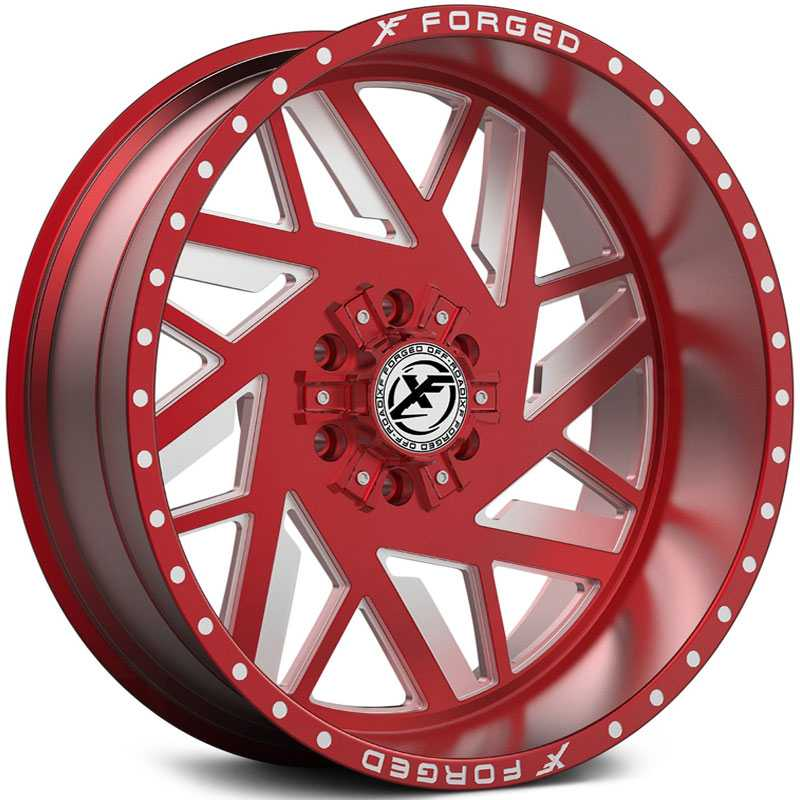 XF Offroad Forged XFX-306  Wheels Red Milled