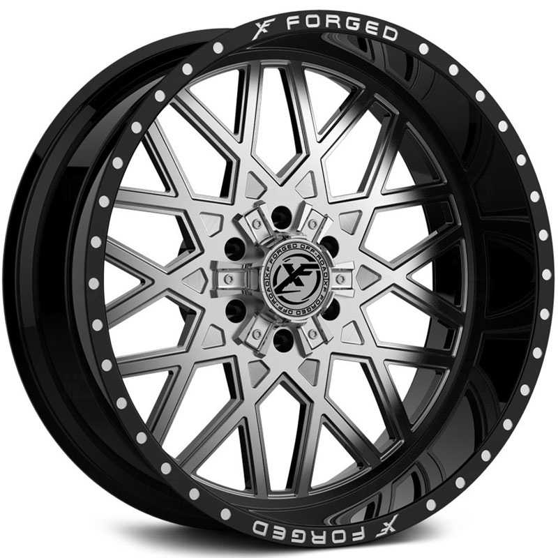 XF Offroad Forged XFX-307  Wheels Gloss Black w/ Brushed Face