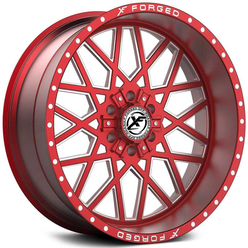 XF Offroad Forged XFX-307  Wheels Red Milled