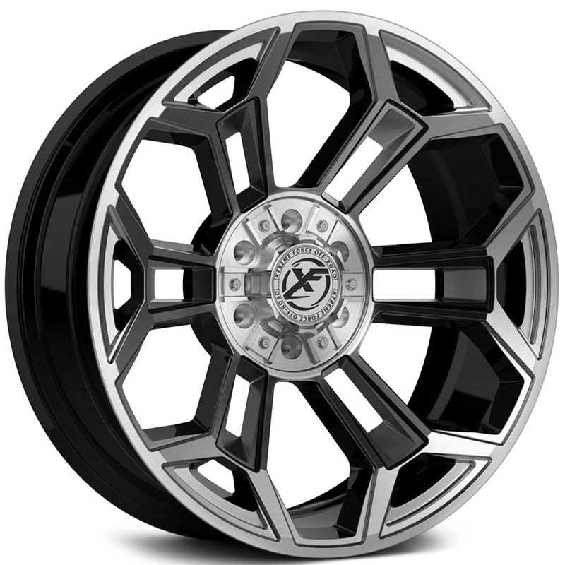XF Offroad Forged XFX-308  Wheels Gloss Black w/ Brushed Face