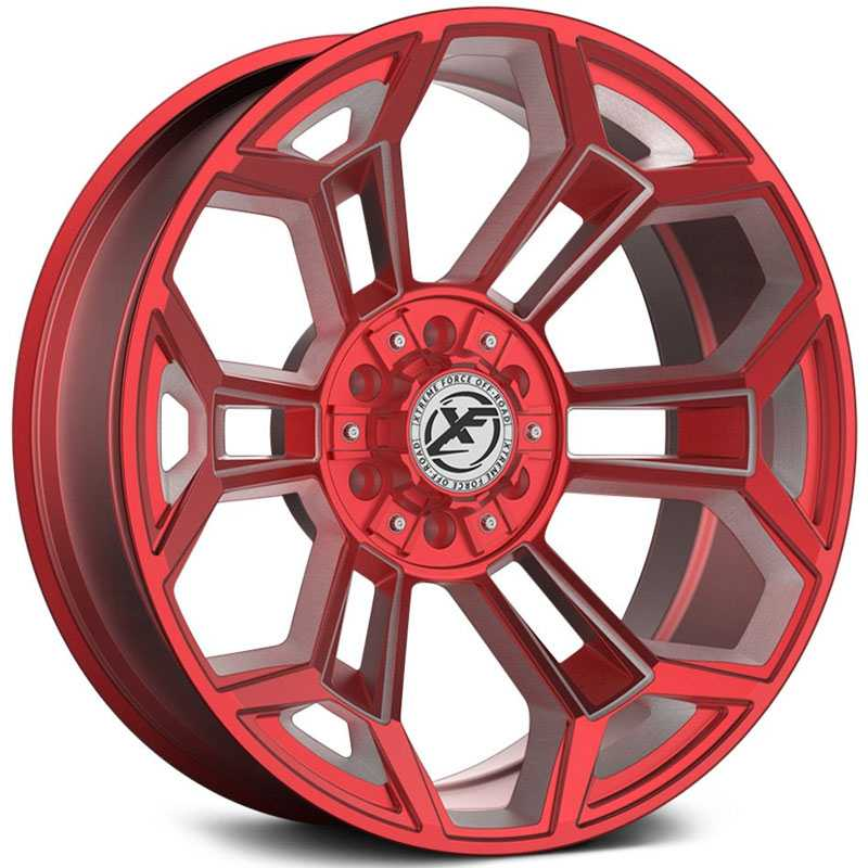 XF Offroad Forged XFX-308  Wheels Red Milled