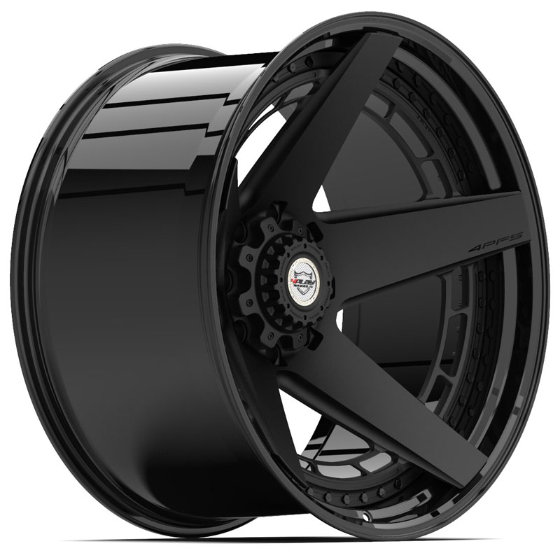 4PF5 Gloss Black w/ Matte Center
