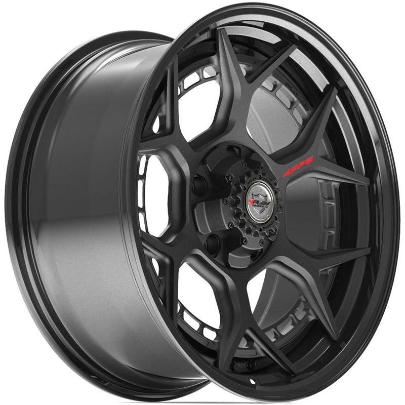 4PF6 Gloss Black w/ Matte Center