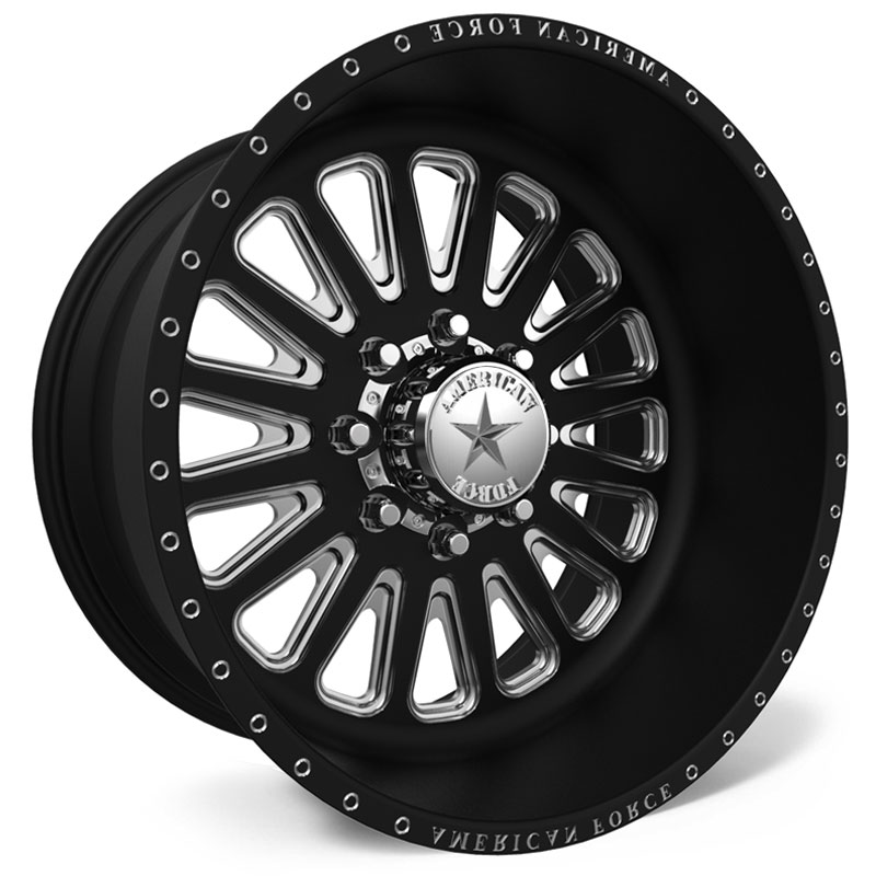 26x14 American Force Wheels F107 Idol SS5 Black REV
