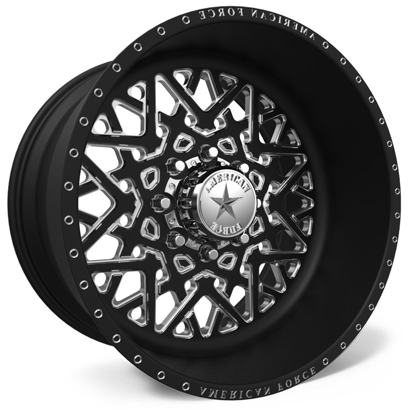 American Force F113 Static SS8  Wheels Black