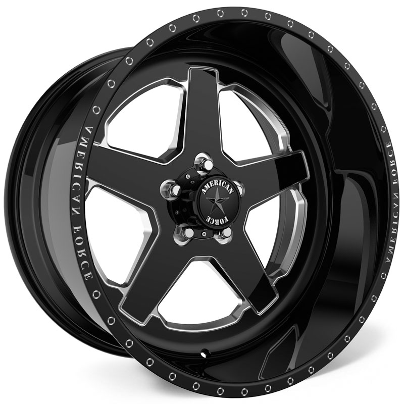 20x9 American Force Wheels H33 Patrol SS5 Black RWD
