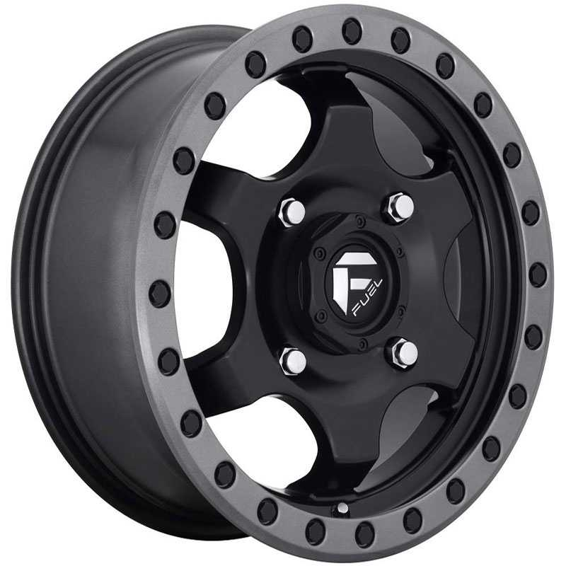 Fuel D639 Gatling  Wheels Matte Black Gunmetal Ring
