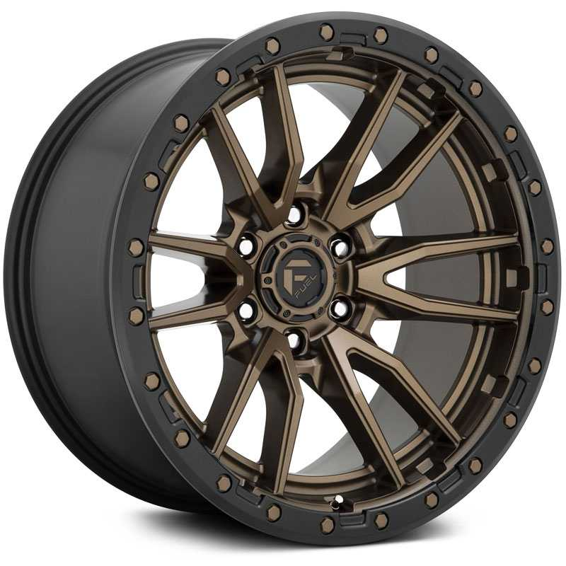 Fuel D681 Rebel  Wheels Matte Bronze Black Bead Ring