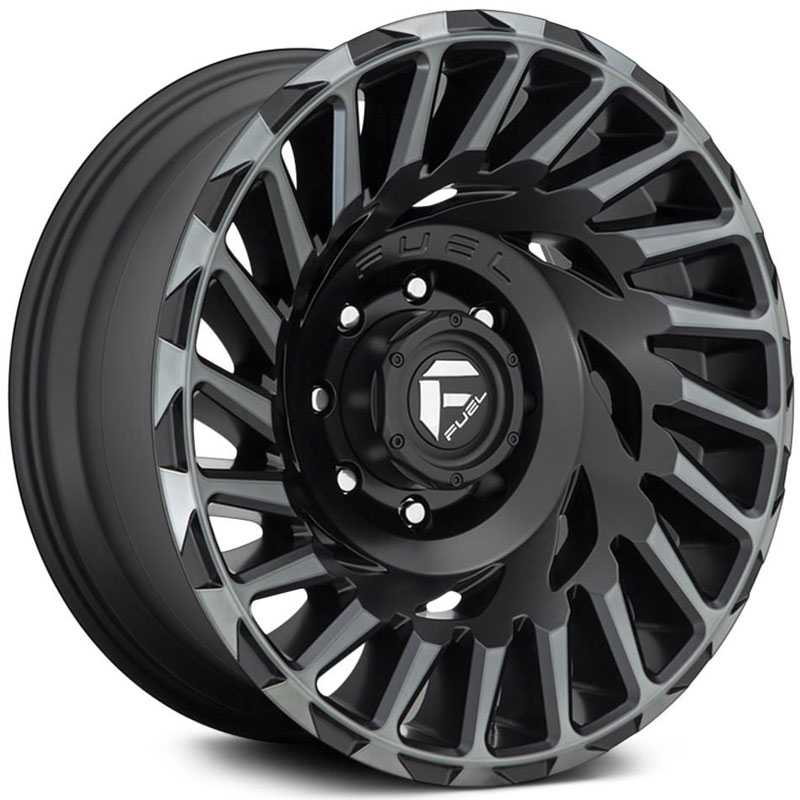 Fuel D683 Cyclone  Wheels Matte Machined Double Dark Tint