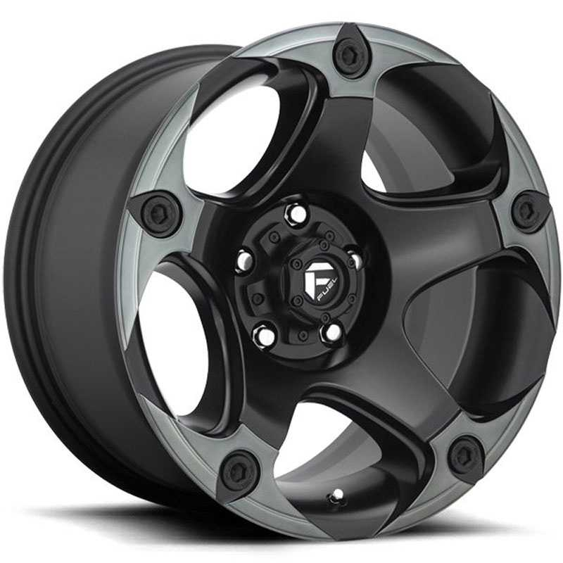 Fuel D685 Menace  Wheels Matte Black Double Dark Tint