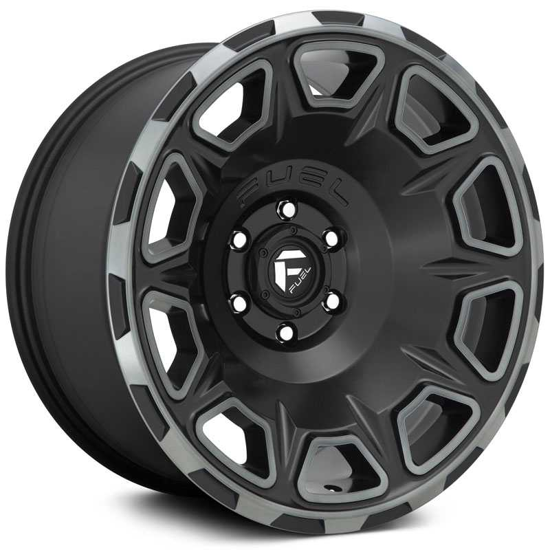 Fuel D686 Vengeance  Wheels Matte Black Double Dark Tint