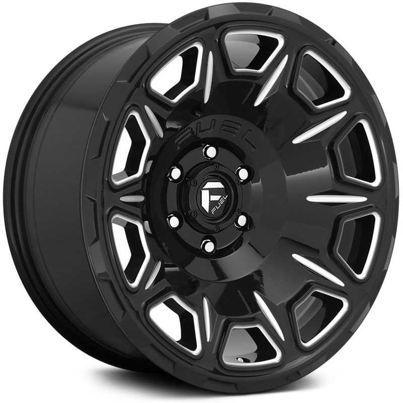 Fuel D688 Vengeance  Wheels Gloss Black Milled