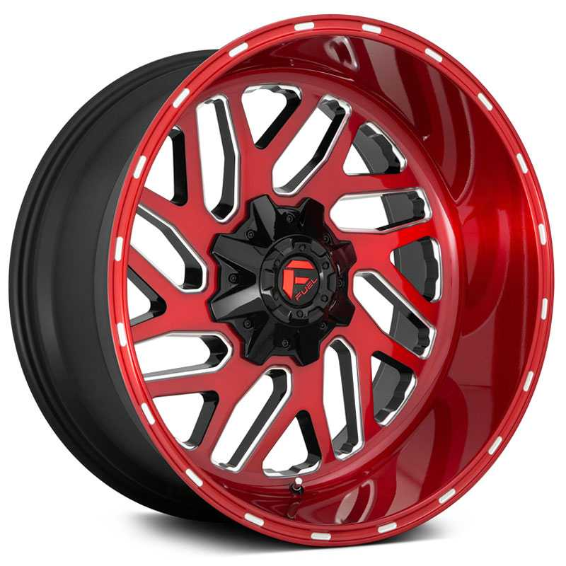 Fuel D691 Triton  Wheels Candy Red Milled
