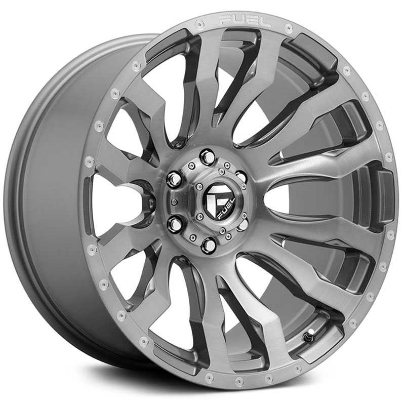 Fuel D693 Blitz Platinum  Wheels Brushed Gunmetal Tinted Clear