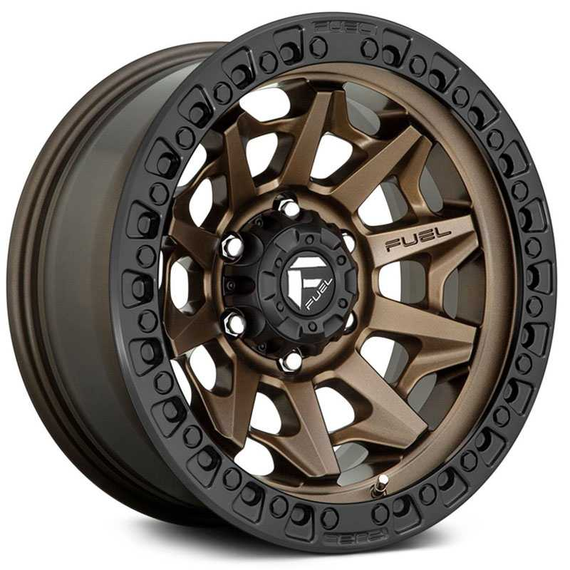 Fuel D696 Covert  Wheels Matte Bronze Black Bead Ring