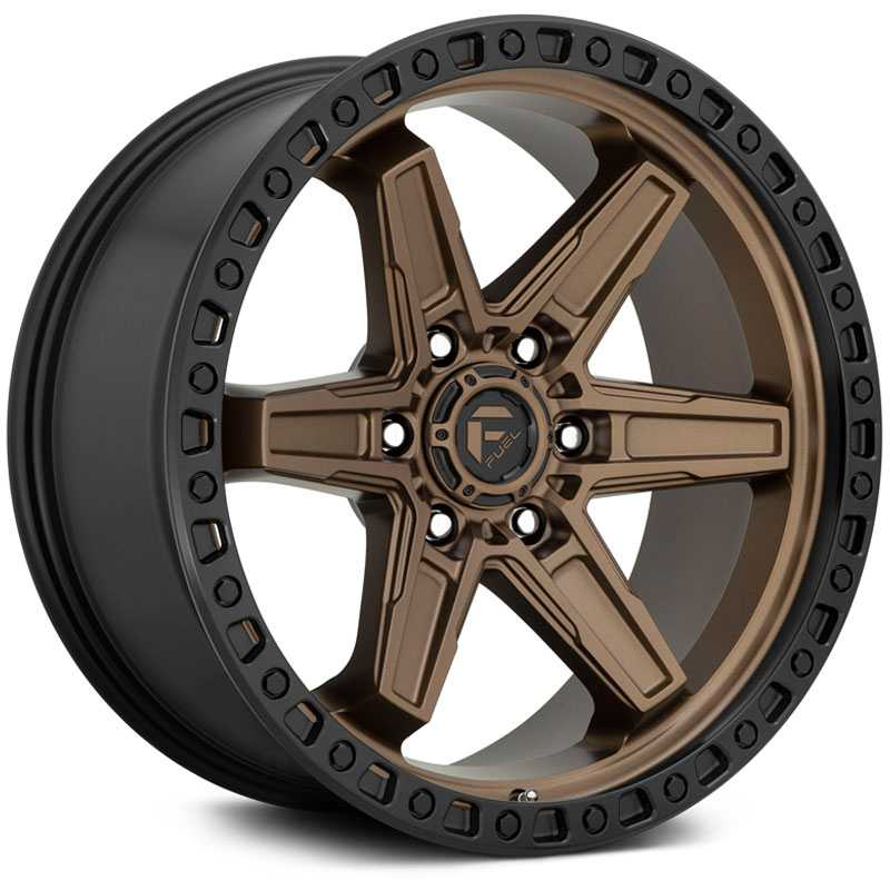 Fuel D699 Kicker  Wheels Matte Bronze Black Bead Ring