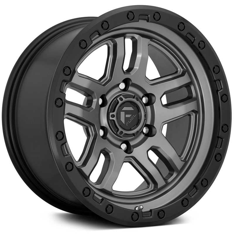 Fuel D701 Ammo  Wheels Matte Gunmetal Black Bead Ring