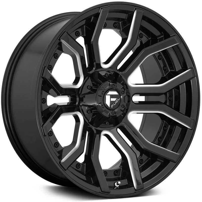 Fuel D711 Rage  Wheels Gloss Black Milled
