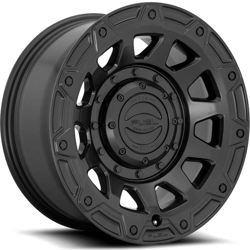 Fuel D729 Tracker  Wheels Satin Black