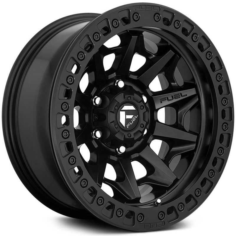 Fuel D114 Covert  Wheels Matte Black