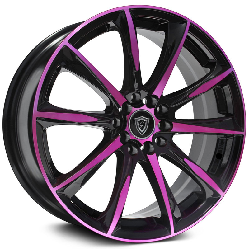 G1026 Gloss Black Pink Face