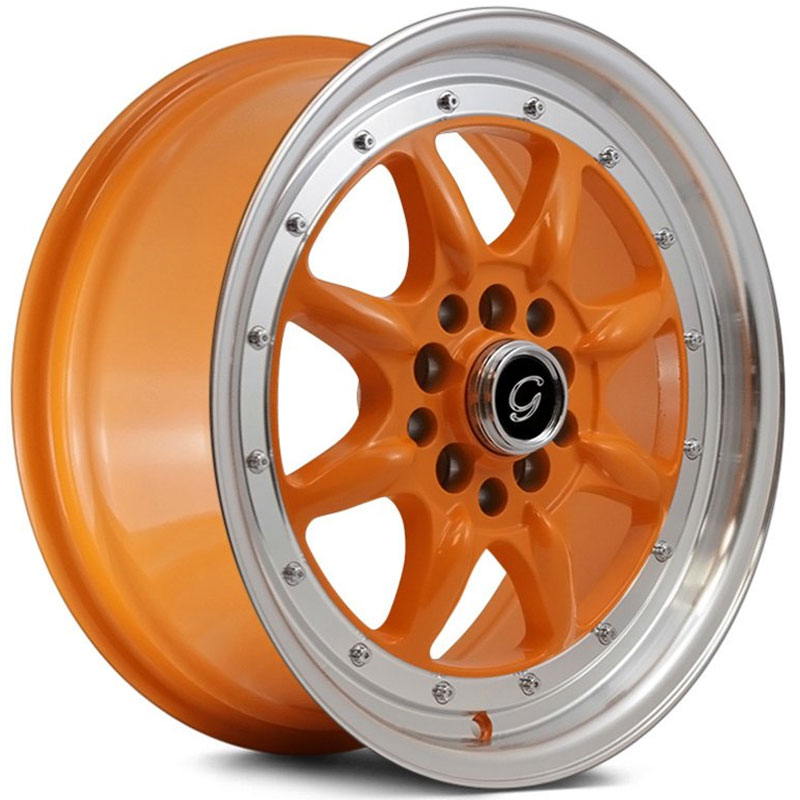 G-Line Alloys G8006 Orange with Machined Lip