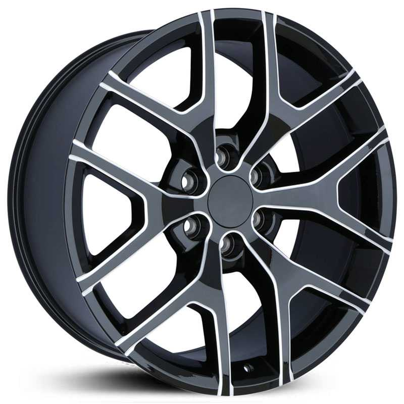 GMC CV92  Wheels Black Milled