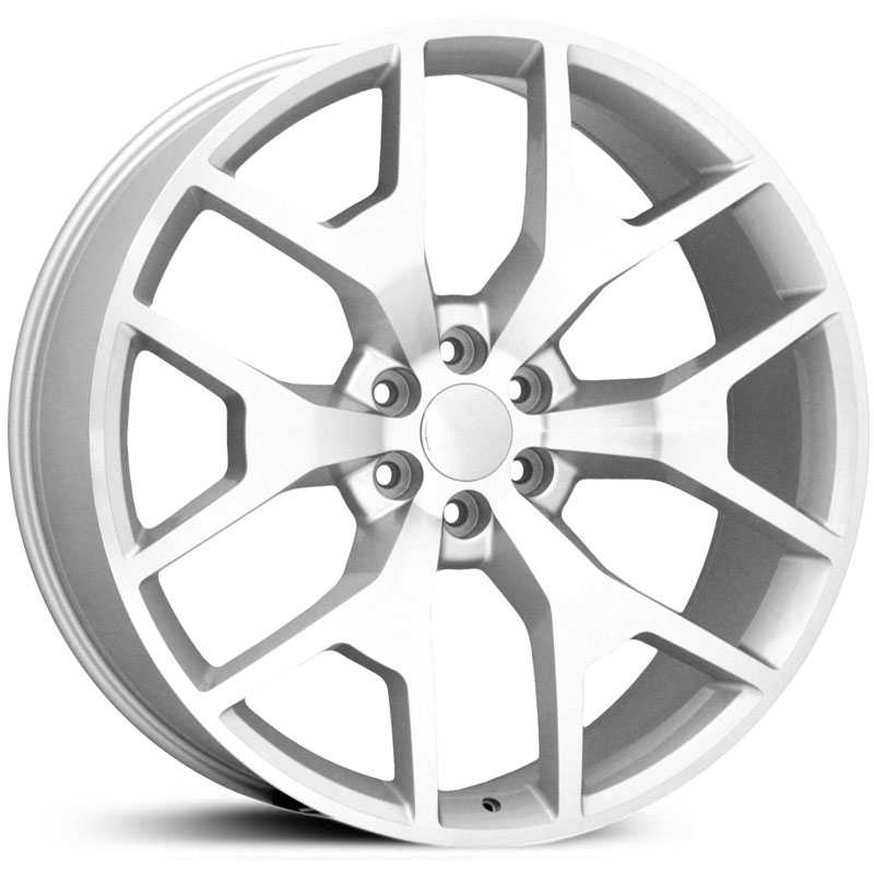 GMC CV92  Wheels Silver Machined Face