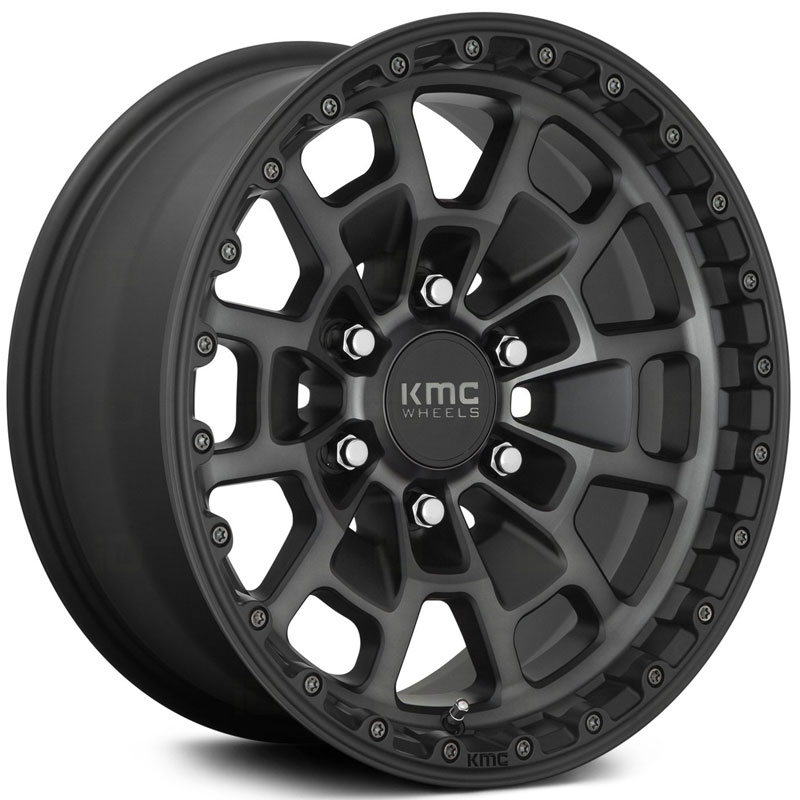 KM718 Summit Satin Black With Gray Tint