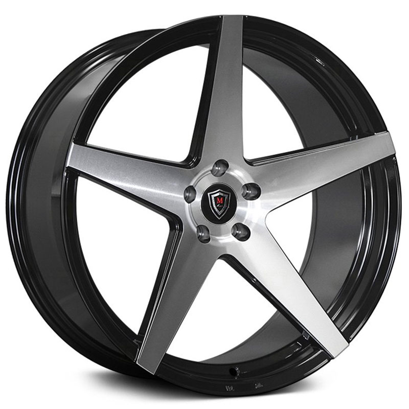 20x10.5 Marquee Luxury M1001 Gloss Black Machined MID