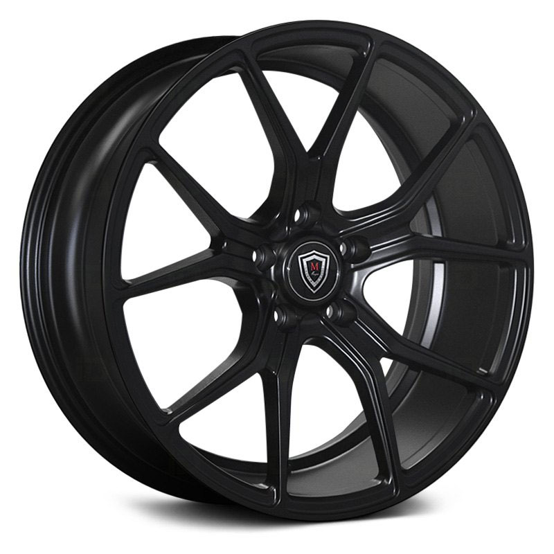 18x8.5 Marquee Luxury M1003 Satin Black HPO