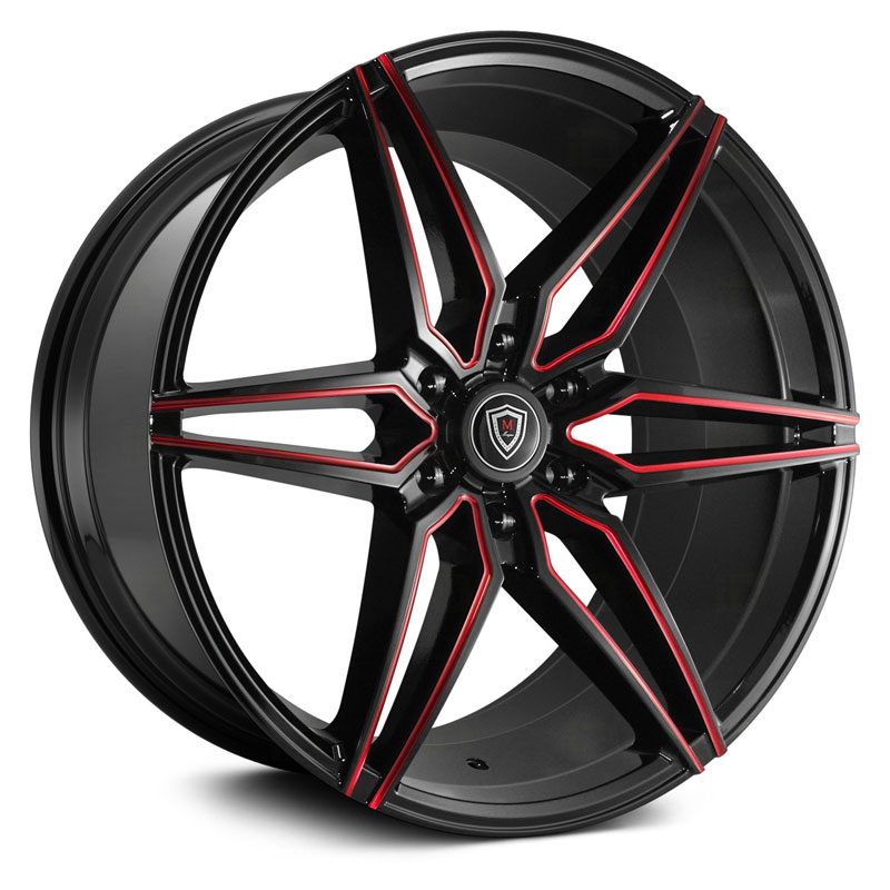 M3259A Gloss Black Red Milled