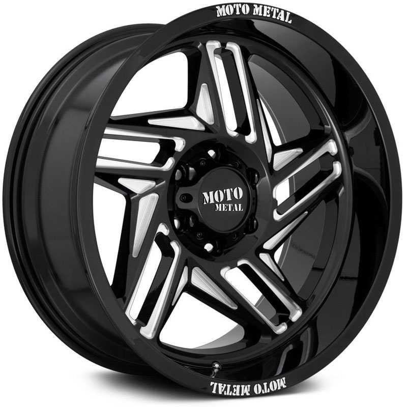 Moto Metal MO996 Ripsaw  Wheels Gloss Black Milled