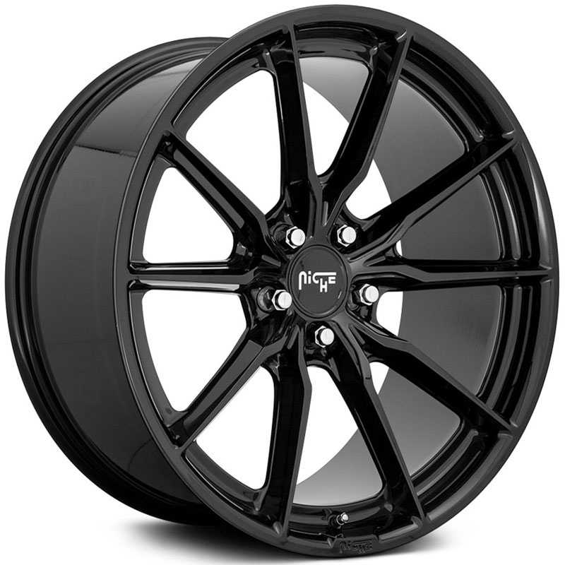 Niche M240 Rainier  Wheels Gloss Black
