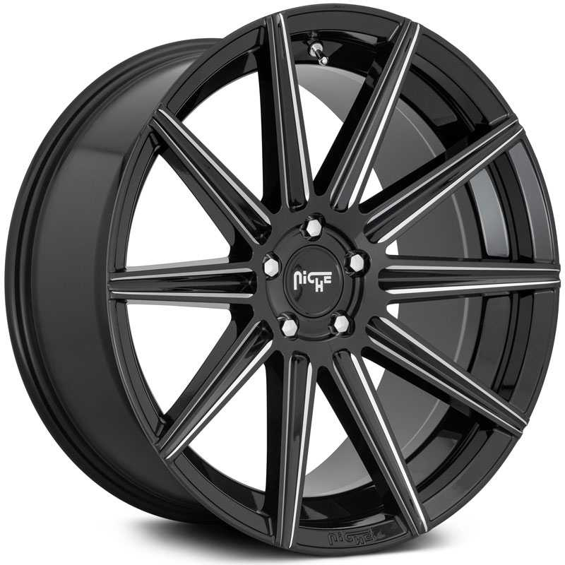 Niche M243 Tifosi  Wheels Gloss Black Milled