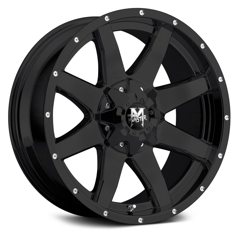 18x9 Off-Road Monster M08 Flat Black RWD