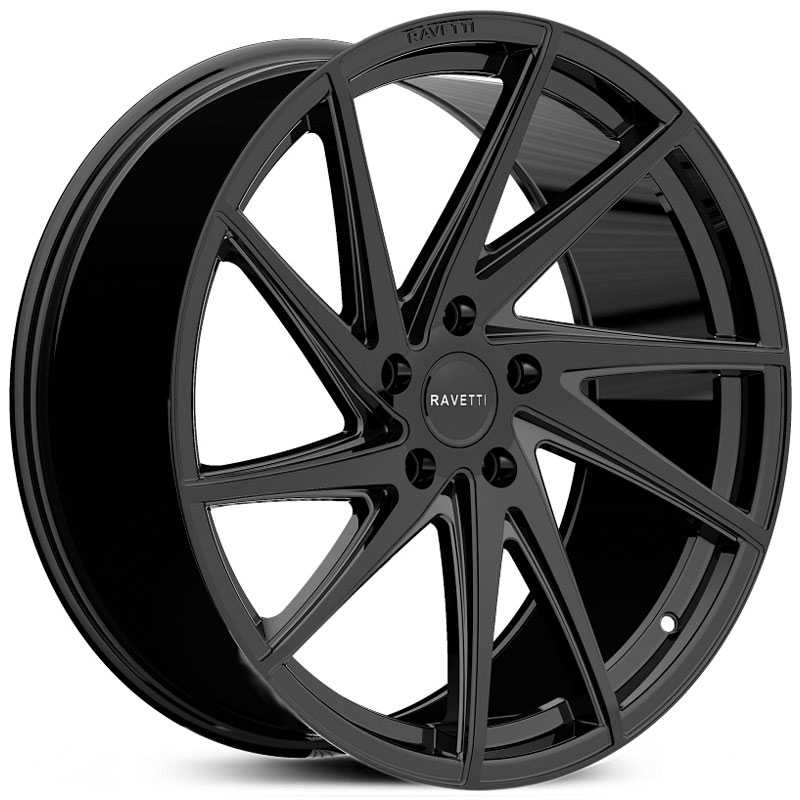 Ravetti M10  Wheels Gloss Black