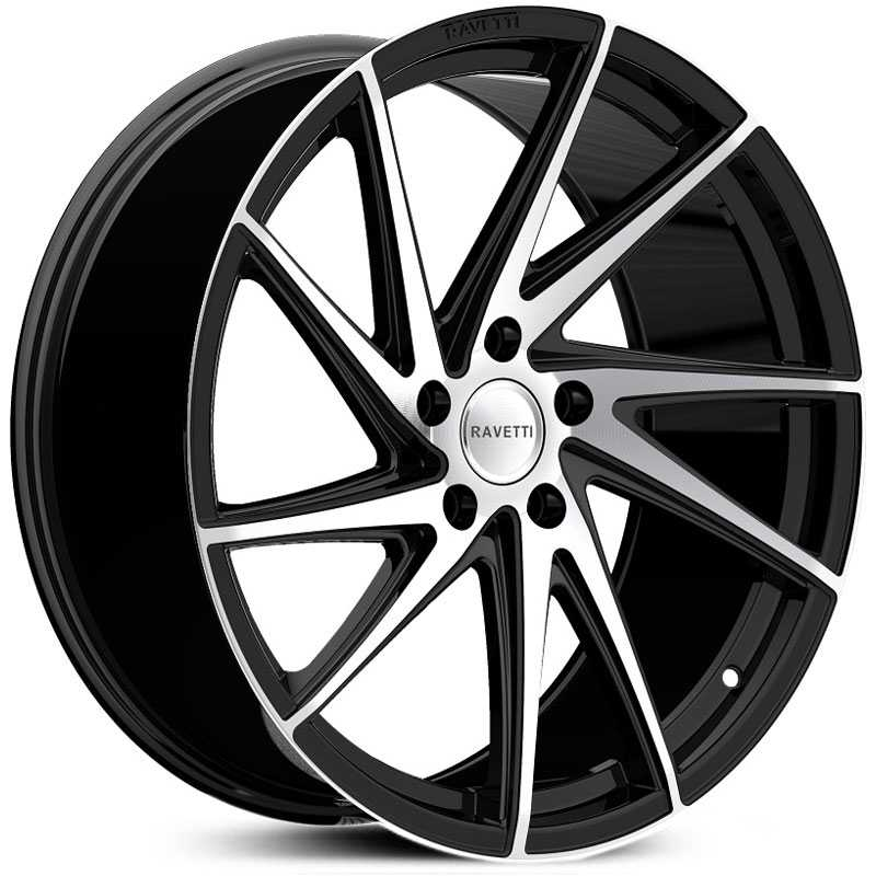 Ravetti M10  Wheels Satin Black w/ Machined Face