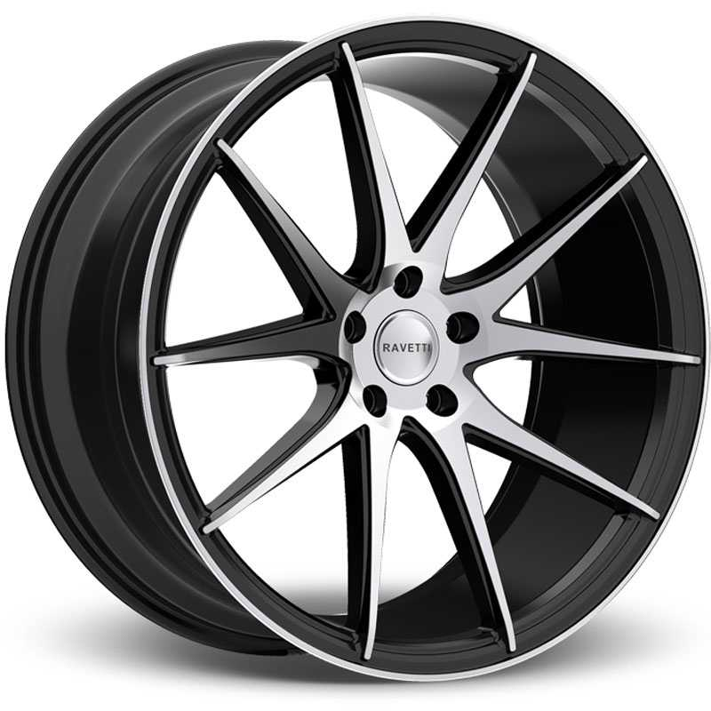 Ravetti M11  Wheels Gloss Black Milled