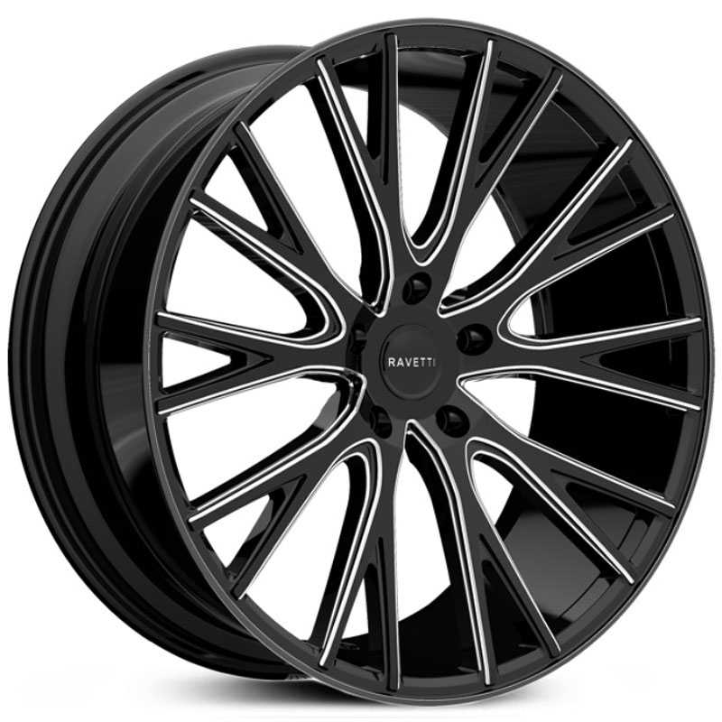 Ravetti M12  Wheels Black Milled