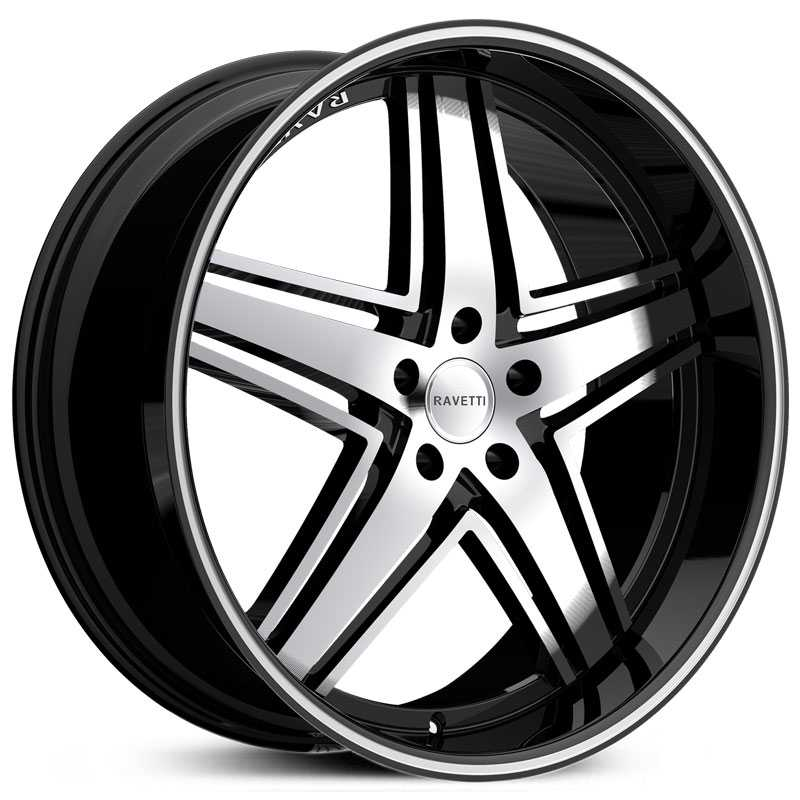 Ravetti M6  Wheels Black Machined Face