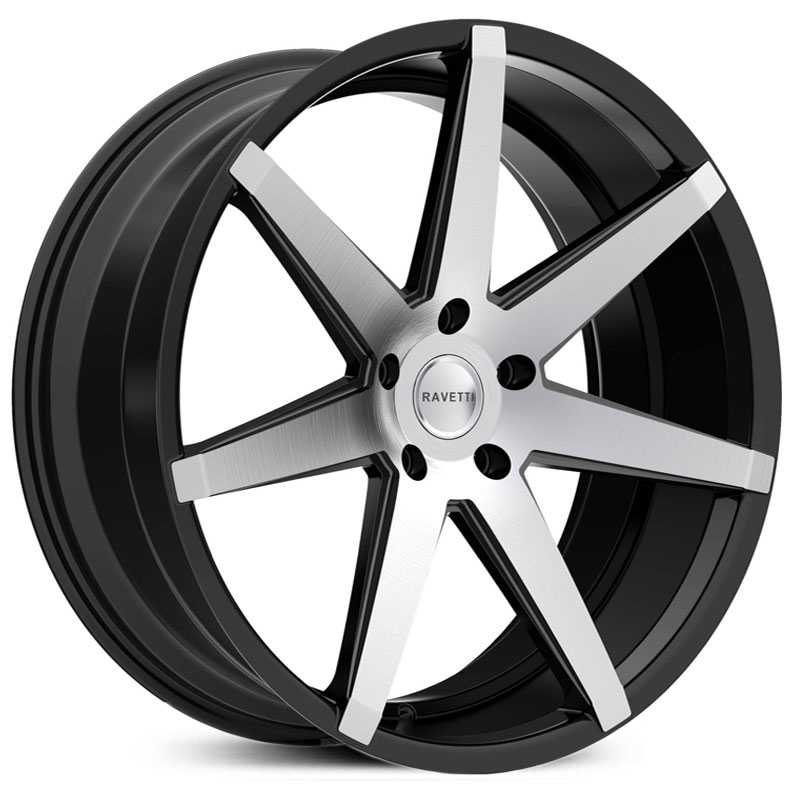 Ravetti M7  Wheels Satin Black w/ Machined Face