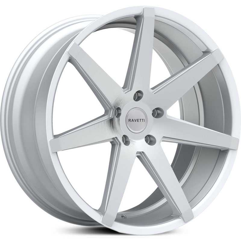 Ravetti M7  Wheels Silver w/ Brushed Face