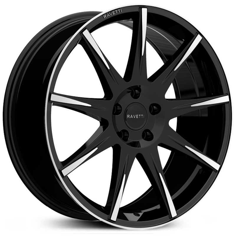 Ravetti M9  Wheels Satin Black w/ Machined Face