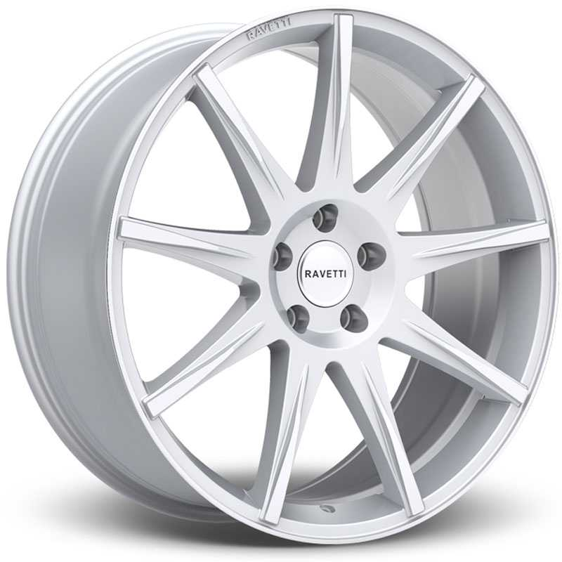 Ravetti M9  Wheels Silver w/ Brushed Face