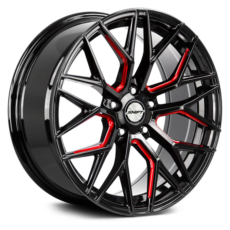 Spring Gloss Black Candy Red Machined