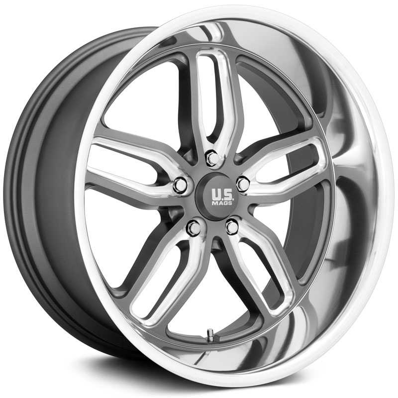 US Mags U129 CTEN  Wheels Matte Gunmetal Milled