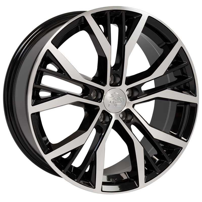 Volkswagen Volkswagen GTI VW28  Wheels Black Machined Face